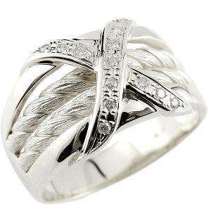 メンズリング ダイヤモンド リング ホワイトゴールドk18 ピンキーリング 18金 指輪 指輪 ダイヤ 送料無料