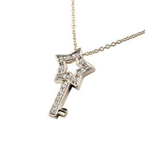 プラチナ ダイヤモンド ダイヤプラチナ ネックレス スターキー ペンダント星 鍵 レディース 送料無料 の トップ 人気