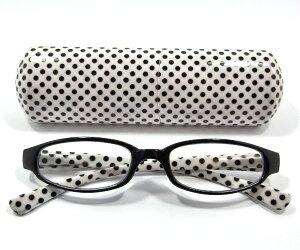 【あす楽】メガネ Bayline ベイライン リーディンググラス 老眼鏡 レディース ミセス +2.00 拡大鏡 ホワイト 水玉 スタンダード ドット めがね 人気