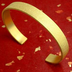 24金 バングル ブレスレット 純金 造幣局検定刻印付 24K k24 鍛造技法 ダイヤモンドダスト シンプル 地金 の 送料無料 LGBTQ ユニセックス 男女兼用