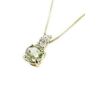 ネックレス ペリドット ペンダント ダイヤモンド イエローゴールドk18 シンプル レディース チェーン 人気 k18 18金 8月誕生石 送料無料