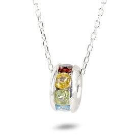 【あす楽】ゴールド リングネックレス アミュレット 天然石 7色 メンズ 10K ホワイトゴールドk10 ペンダント トップ アズキチェーン スライド式 男性 の 送料無料