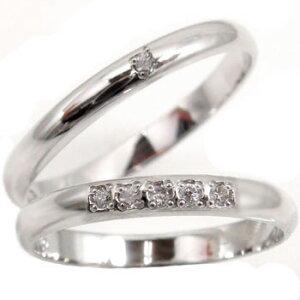 結婚指輪 【送料無料】ペアリング ダイヤ ダイヤモンド ホワイトゴールドk18 マリッジリング 梅 結婚式 18金 ストレート カップル 2.3 贈り物 誕生日プレゼント ギフト ファッション パートナ