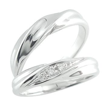 結婚指輪 ハードプラチナ950 ダイヤモンド マリッジリング ペアリング プラチナ pt950 結婚式 ダイヤ ストレート カップル 贈り物 誕生日プレゼント ギフト ファッション