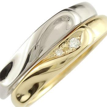 ペアリング 結婚指輪 マリッジリング プラチナ ダイヤモンド ハート イエローゴールドk18 結婚式 18金 ダイヤ ストレート カップルブライダルジュエリー ウエディング 贈り物 誕生日プレゼント ギフト ファッション Xmas Christmas