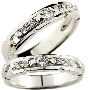 鑑定書付き ペアリング ダイヤモンド 結婚指輪 マリッジリング ホワイトゴールドk18 SI 結婚式 18金 ダイヤ ストレート カップル 女性 送料無料 の 2個セット LGBTQ 男女兼用