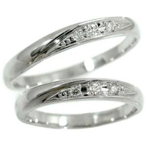 ペアリング 結婚指輪 プラチナ マリッジリング ハード950 ダイヤモンド 指輪 ネット限定販売 結婚式 pt950 ダイヤ ストレート カップル 送料無料 の 2個セット 人気