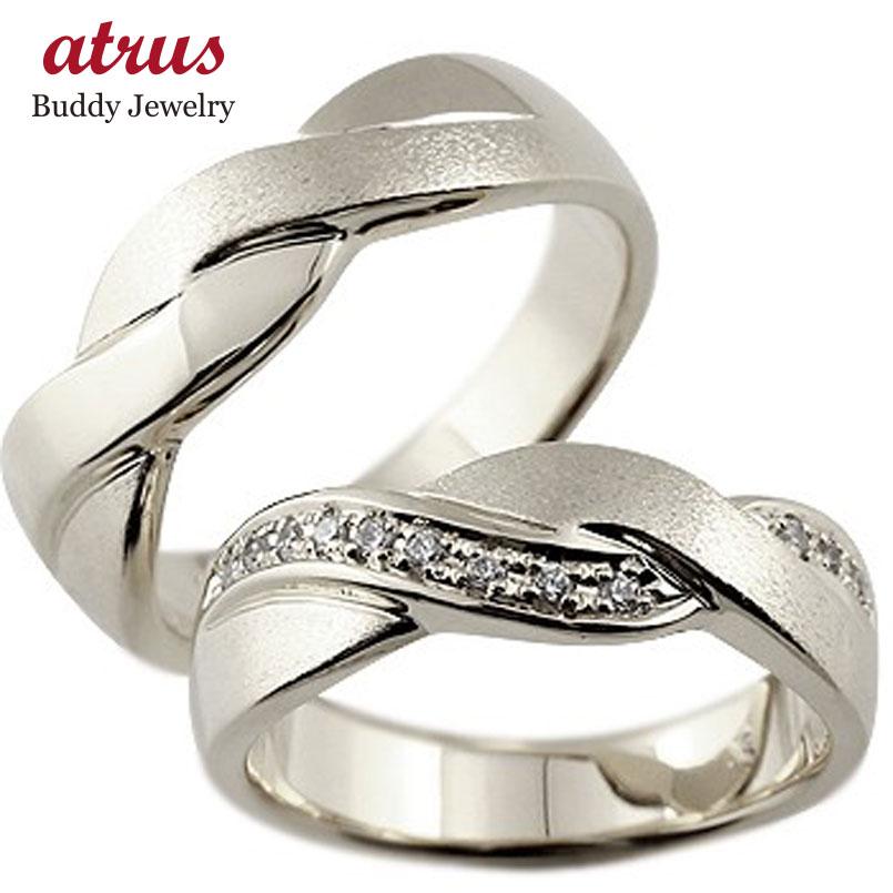 結婚指輪 ペアリング 幅広 つや消し キュービックジルコニア マリッジリング シルバー ストレート カップル 贈り物 誕生日プレゼント ギフト ファッション