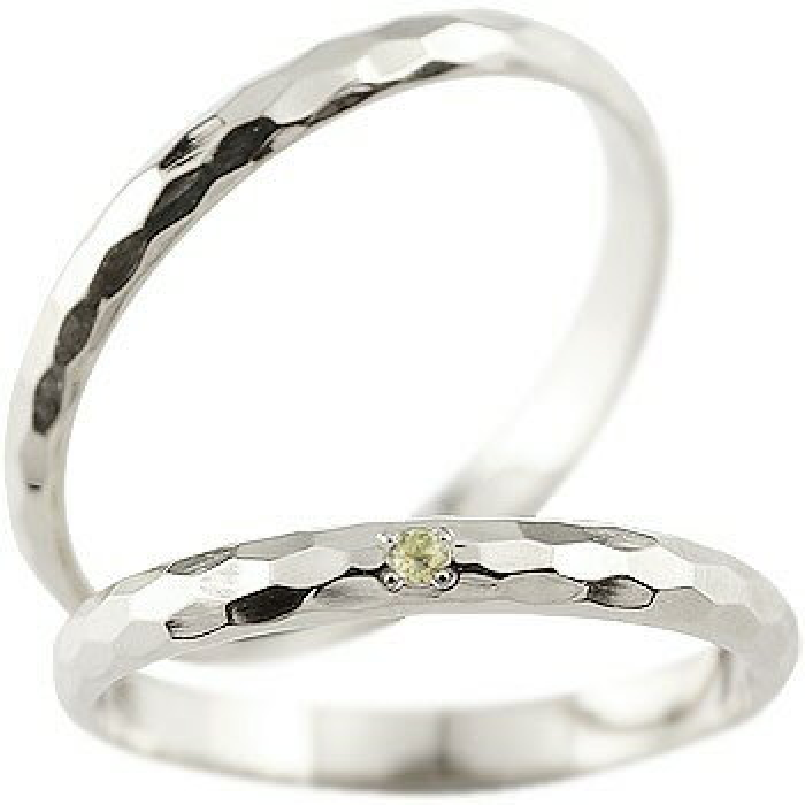 結婚指輪 【送料無料】ペアリング ペリドット ホワイトゴールドk18 人気 マリッジリング 18金 結婚式 シンプル ストレート カップル 贈り物 誕生日プレゼント ギフト ファッション