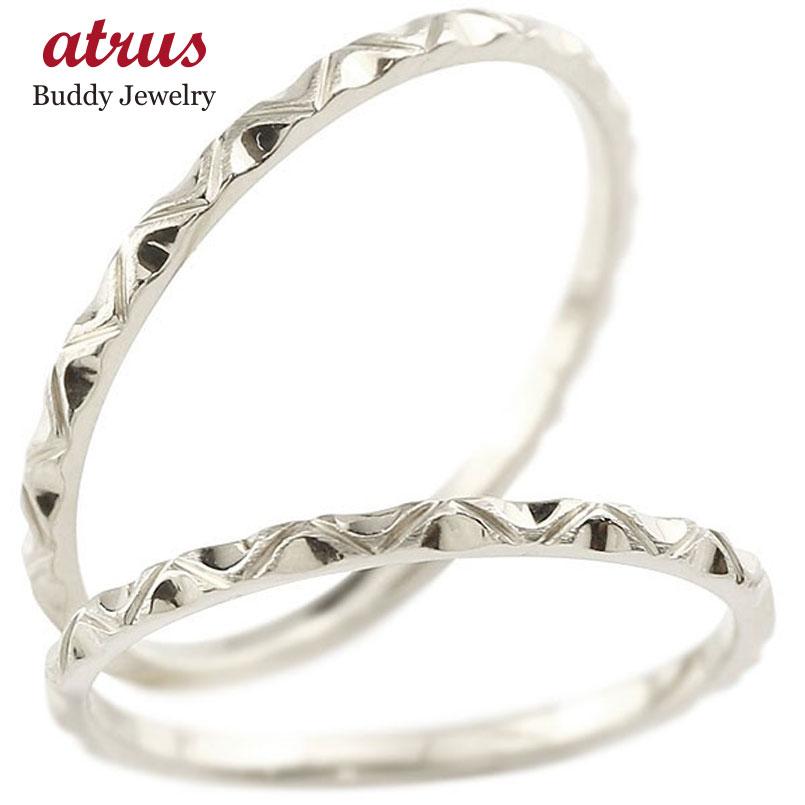 ペアリング 結婚指輪 マリッジリング ホワイトゴールドk10 k10wg 極細 華奢 アンティーク 結婚式 ストレート 10金 スイートペアリィー カップル 贈り物 誕生日プレゼント ギフト ファッション