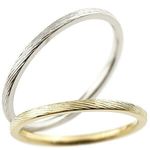 ペアリング 結婚指輪 マリッジリング イエローゴールドk10 ホワイトゴールドk10 k10wg 極細 華奢 アンティーク 結婚式 ストレート 10金 スイートペアリィー カップル 贈り物 誕生日プレゼント