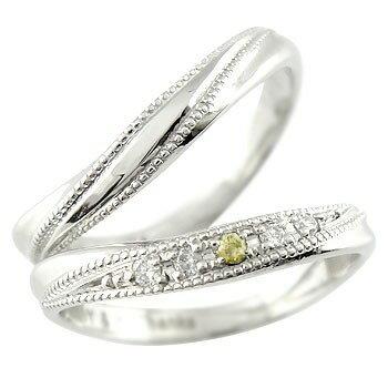 結婚指輪 ペアリング ダイヤ ダイヤモンド ペリドット マリッジリング ホワイトゴールドk18 ミル打ち 結婚式 18金 カップル 贈り物 誕生日プレゼント ギフト ファッション