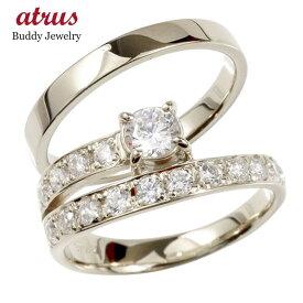 結婚指輪 【送料無料】ダイヤモンド ペアリング シルバー エタニティ リング マリッジリング 一粒 大粒 リング ダイヤ sv925 ファッション パートナー