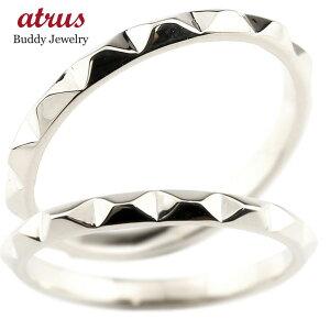 ペアリング マリッジリング 結婚指輪 ホワイトゴールドk10 ストレート カップル 10金 宝石なし 地金 メンズ レディース プレゼント 女性 送料無料 の 2個セット