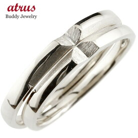 結婚指輪 ペアリング シルバー マリッジリング クロス 十字架 シンプル つや消し sv925 ストレート スイートペアリィー カップル ファッション パートナー