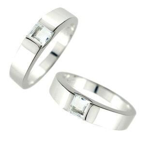 ペアリング プラチナ 結婚指輪 メンズ pt900 アクアマリン 幅広 指輪 男性用 アクアマリン 3月誕生石 トラスト プレゼント 女性 送料無料 の 2個セット 人気