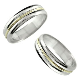 結婚指輪 メンズ ペアリング コンビリング プラチナ pt900 イエローゴールドk18 宝石なし 地金 指輪 男性用 リング トラスト 女性 送料無料