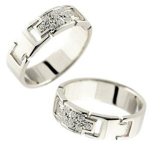 ペアリング 18金 結婚指輪 メンズ ダイヤモンド ホワイトゴールドリング 指輪 ダイヤ 幅広指輪 十字架 k18 男性用 トラスト プレゼント 女性 送料無料 の 2個セット 人気