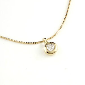 ダイヤモンド ペンダントネックレス イエローゴールドk18 ダイヤモンド 一粒 ダイヤ 18金 レディース 送料無料
