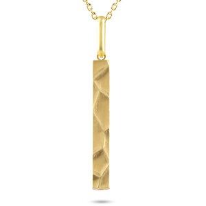 10金 10k ゴールド ネックレス メンズ バーネックレス ホイッスル リバーシブル イエローゴールドk10 地金 槌目 ペンダント トップ アズキチェーン 金笛 犬笛 の 送料無料