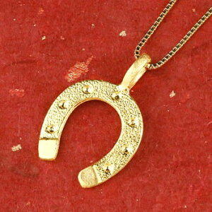 純金 馬蹄 24金 ゴールド 24K ネックレス トップ ホースシュー ペンダント k24 シンプル チェーン 人気 蹄鉄 バテイ 送料無料