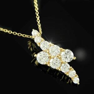 ネックレス レディース ダイヤモンド ダイヤ ダイヤイエローゴールドk18 チェーン 人気 18金送料無料 の トップ