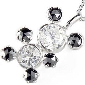 ネックレスダイヤモンド ダイヤブラックダイヤモンド ダイヤローズカット キュービックジルコニアホワイトゴールドK18パンダ チェーン 人気 送料無料 の トップ