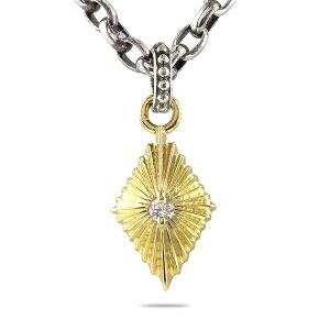 24金 ネックレス メンズ ダイヤモンド 一粒 シルバー 24k ペンダント トップ 燻し チェーン sv925 純金 男性 シンプル の 送料無料