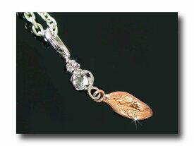 フェザー 羽 誕生石 アクアマリン ネックレス 一粒 ダイヤモンド ペンダント ホワイトゴールド ピンクゴールド 3月誕生石 チェーン 人気 18金 ダイヤ レディース