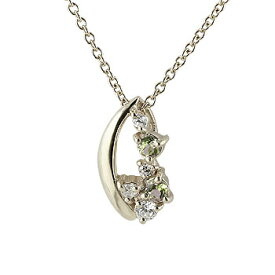 ペリドット キュービックジルコニア ペンダント ネックレス シルバー 8月誕生石 人気 レディース チェーン 宝石 プレゼント 女性 送料無料