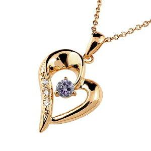 ダイヤモンド オープンハート 誕生石 ネックレス アメジスト ピンクゴールドk18 18k 18金 チェーン 人気 2月誕生石 ダイヤ 宝石 ユニセックス の 送料無料 LGBTQ 男女兼用