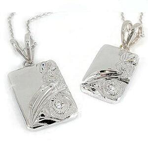 ハワイアンジュエリー ペアペンダントハワイアンジュエリーダイヤモンド ハワイアンペンダントプラチナ900 ハワイ ダイヤ シンプル 人気 プレゼント 女性