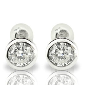 メンズ 鑑定書付 ダイヤモンドピアス SI 一粒 大粒 0.60ct プラチナ スタッドピアス 天然石ダイヤ 男性用 宝石 ファッション エンゲージリングのお返し