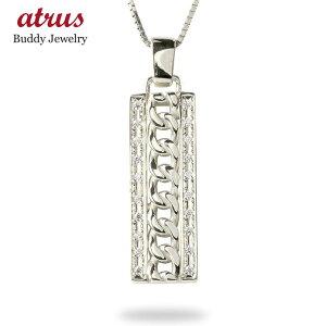 ゴールド ネックレス メンズ ダイヤモンド 喜平 プレート ペンダント トップ 10k 10金 ホワイトゴールドk10 シンプル キヘイ ベネチアンチェーン 男性 の 送料無料