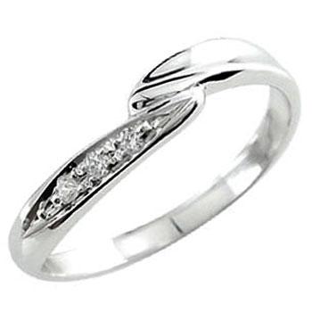 ダイヤモンド プラチナリング ピンキーリング プラチナ ダイヤ 指輪 4月誕生石 ストレート ファッションリング 贈り物 誕生日プレゼント ギフト ファッション