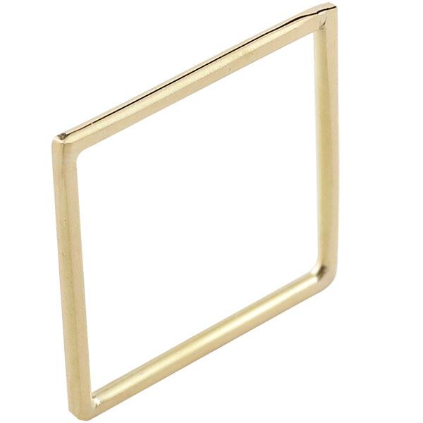 ピンキーリング リング スクエア イエローゴールドk18 18金 宝石なし 地金リング 指輪 四角 ホーニング ファッション