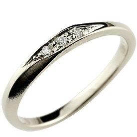 ダイヤモンド シルバーリング 指輪 ピンキーリング シルバー つや消し レディース ストレート 送料無料