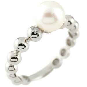 パールリング 真珠 フォーマル プラチナリング リング ピンキーリング キュービックジルコニア 指輪 pt900 ストレート 送料無料 LGBTQ 男女兼用