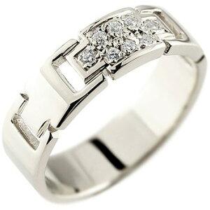 ピンキーリング クロス シルバーリング 指輪 ダイヤモンド 幅広指輪 十字架 レディース ストレート 送料無料