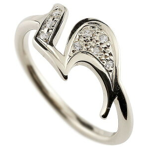 ピンキーリング ダイヤモンド ナンバー5 ホワイトゴールドk18 18金 リング 指輪 数字 ストレート 送料無料