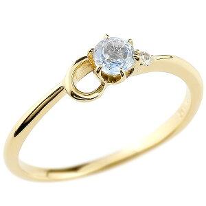 指輪 イニシャル ネーム C ピンキーリング ブルームーンストーン ダイヤモンド 華奢リング イエローゴールドk18アルファベット 18金 レディース 6月誕生石 の 送料無料 人気