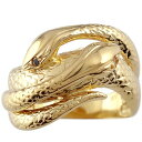 ピンキーリング ブラックダイヤモンド シトリン スネーク 双頭のへび 蛇 指輪 イエローゴールドk18 18金 ダイヤ 11月…