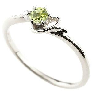 指輪 イニシャル ネーム Y ピンキーリング ペリドット ダイヤモンド 華奢リング ホワイトゴールドk18アルファベット 18金 8月誕生石 人気 送料無料 LGBTQ 男女兼用