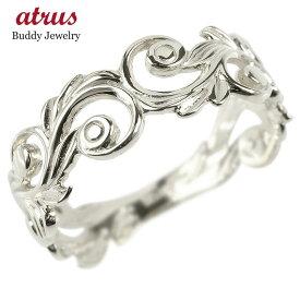 リング レディース ハワイアンジュエリー 指輪 シルバー sv925 透かし 婚約指輪 安い スクロール マイレ ピンキーリング 地金 シンプル 女性 送料無料
