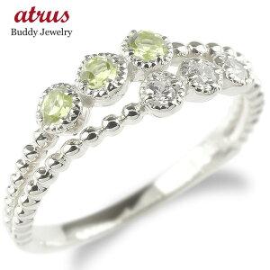 プラチナ 婚約 指輪 リング レディース キュービックジルコニア ペリドット 2連 指輪 pt900 ボール エンゲージリング ピンキーリング 女性 人気 送料無料