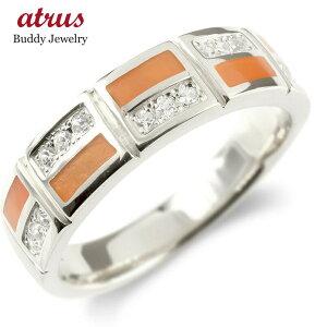 婚約指輪 ゴールド リング キュービックジルコニア レディース エポキシ樹脂 指輪 10金 ホワイトゴールドk10 ピンキーリング 幅広 レンガ調 送料無料