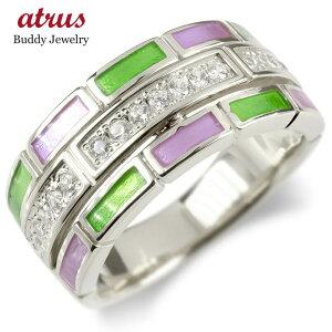 シルバー リング ダイヤモンド レディース エポキシ樹脂 指輪 sv925 婚約指輪 エンゲージリング ピンキーリング リング 幅広 レンガ調 送料無料