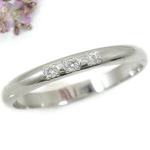プラチナ ピンキーリング ダイヤモンド ダイヤリング 指輪 リング4月誕生石 ストレート 2.3 宝石 送料無料 LGBTQ 男女兼用
