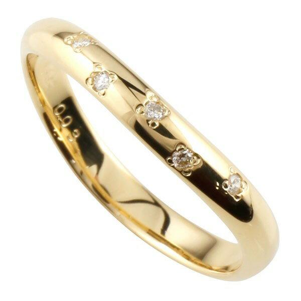 【送料無料】婚約指輪 ダイヤモンド リング イエローゴールドK18 指輪 エンゲージリング 指輪 18金 ダイヤモンドリング ダイヤ ストレート 2.3 贈り物 誕生日プレゼント ギフト ファッション 18k Xmas Christmas