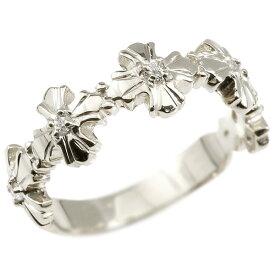 婚約指輪 リング シルバー925 ダイヤモンド クロス エンゲージリング 指輪 ピンキーリング sv925 十字架 レディース 妻 嫁 奥さん 女性 彼女 娘 母 祖母 パートナー